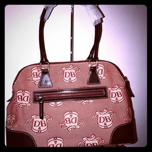 Dooney and Bourke Multi Red Domed Satchel